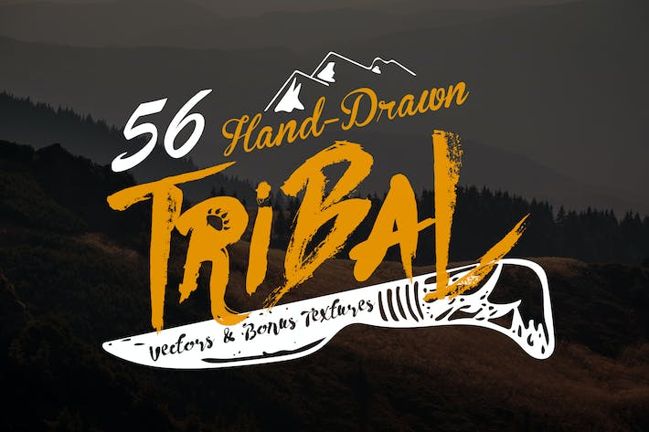 Thumbnail for Hand-Drawn Tribal Vectors