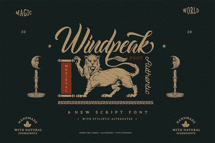 Thumbnail for Windpeak Decorative Script