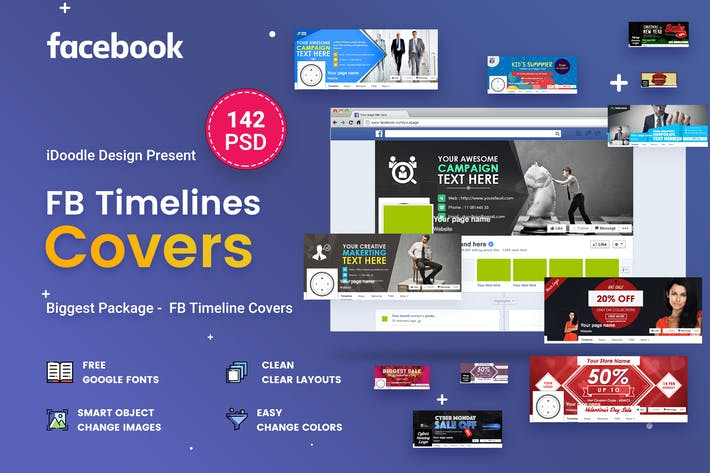 Thumbnail for Facebook Timeline Covers - 142 PSD