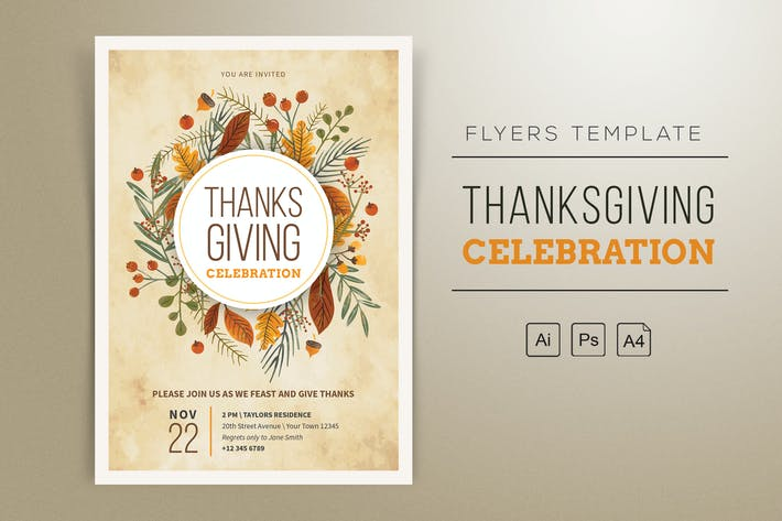 Thanksgiving Celebration Flyer