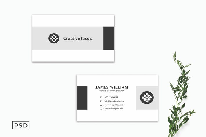 Creative Minimalist Business Card Template