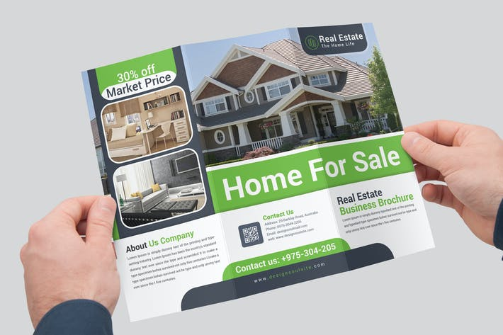 Cover Image For Real Estate Trifold Brochure