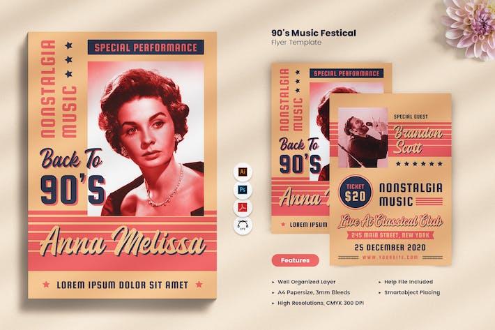 Thumbnail for 90's Music Festival Bifold Brochure