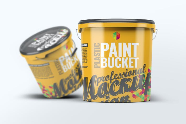 Thumbnail for Plastic Paint Bucket Mock-Up