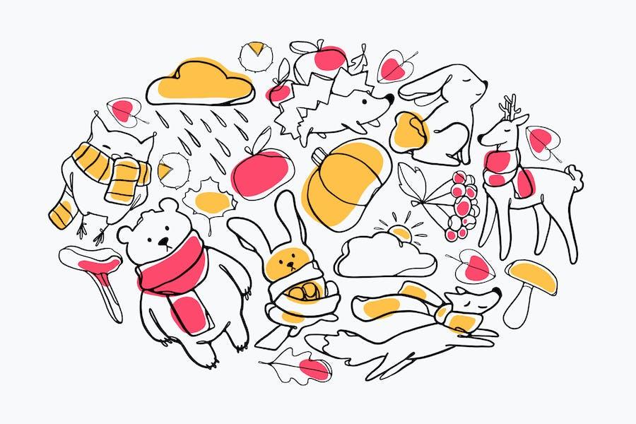 Cute Autumn Doodles