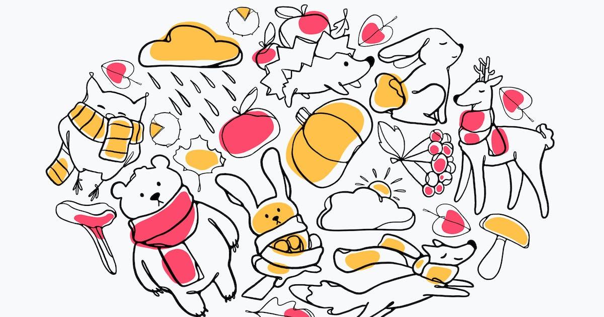 Download Cute Autumn Doodles by Jumsoft