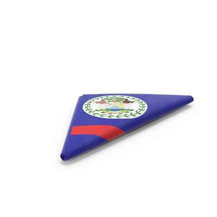 Flagge gefaltet Dreieck Belize