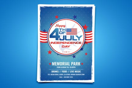 USA Independence Day Flyer/Poster Template
