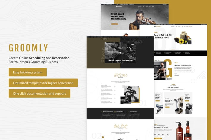 Thumbnail for Groomly - Men's Grooming WordPress Theme
