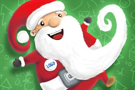 Handgezeichneter Weihnachtsmann