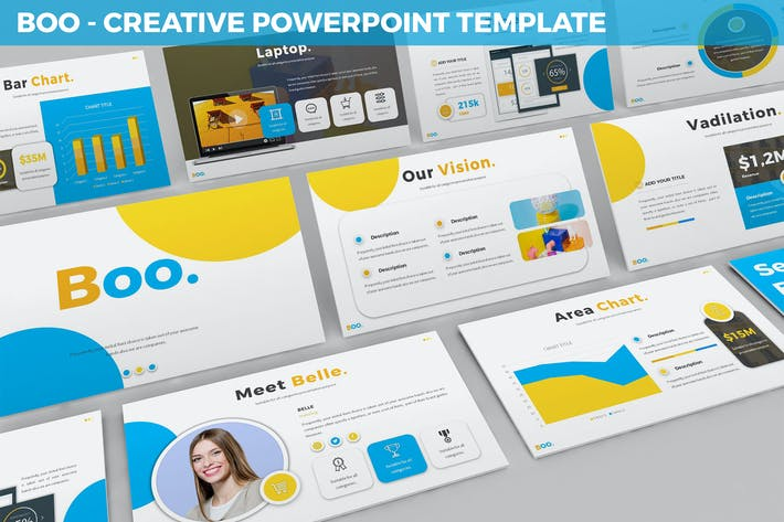 Cover Image For Boo - Multipurpose Creative Powerpoint Template