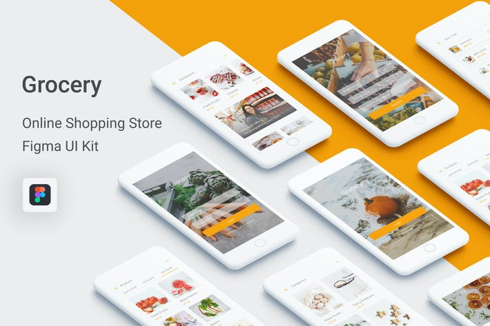 Thumbnail for Supermercado - Kit de interfaz de usuario de la tienda de compras en línea para Figma