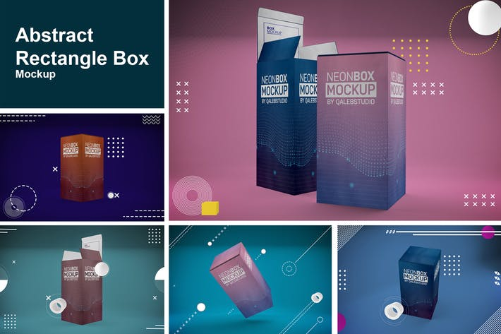 Thumbnail for Abstract Rectangle Box Mockup