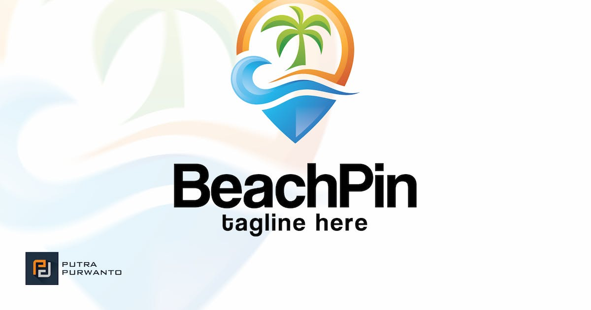 Download Beach Pin - Logo Template by putra_purwanto