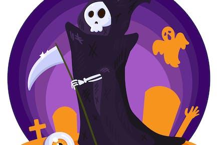 Halloween Death Illustration