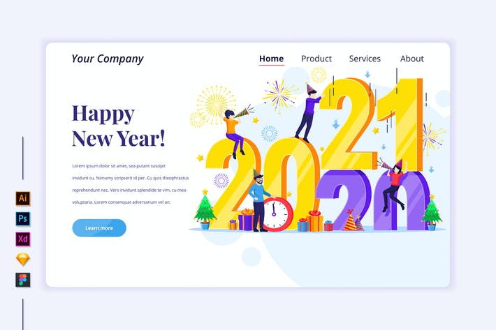 Thumbnail for Happy New Year Illustration - Agnytemp
