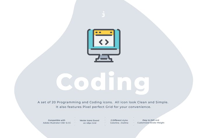Thumbnail for 20 Coding icon set