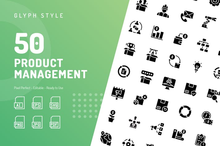 Thumbnail for Product Management Glyph Icons