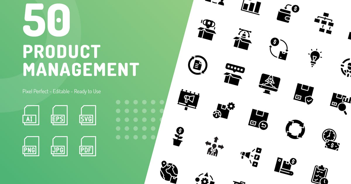 Download Product Management Glyph Icons by kerismaker