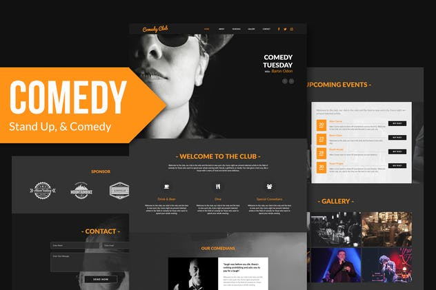 Comedy Club - Entertainment Club Muse Template YR