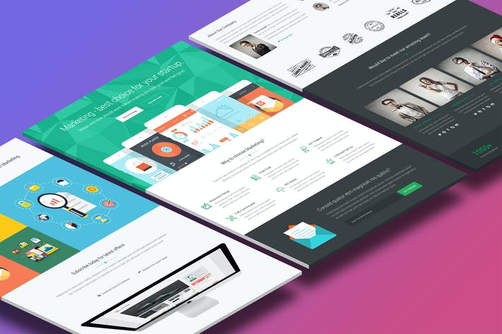 Marketing - Startup Landing Page Template by Epic-Themes on Envato ...