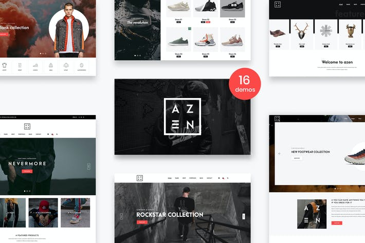 Thumbnail for Azen - Clean, Minimal Shop PSD Template