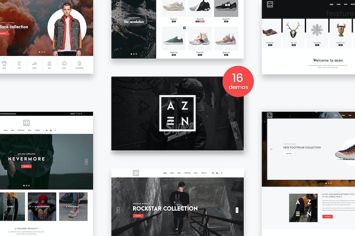 Thumbnail for Azen - Nettoyer, Minimal Shop Modèle PSD