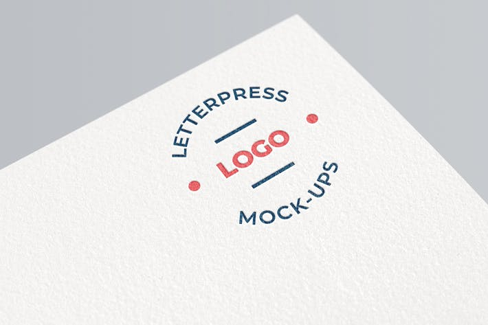 Thumbnail for Simple Letterpress Logo Mockup