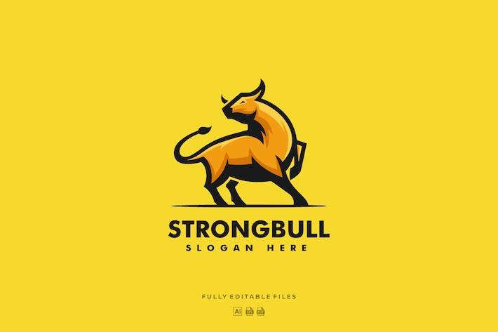Thumbnail for Strong Bull Color Mascot logo