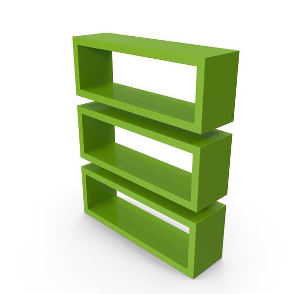 Thumbnail for Straight Shelves Green