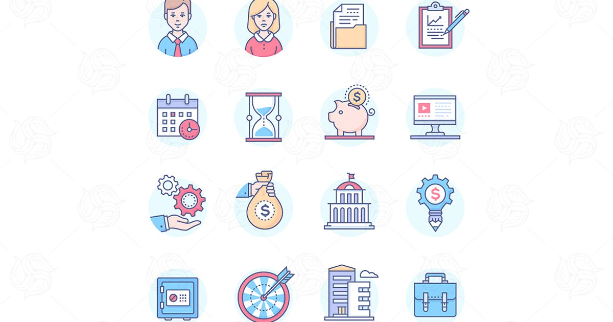 Download Business - set of line design style icons by BoykoPictures
