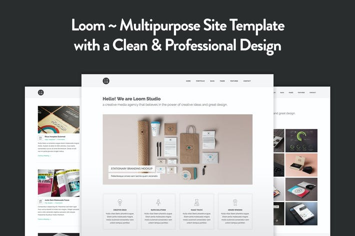 Thumbnail for Loom - Multipurpose Responsive HTML5 Template