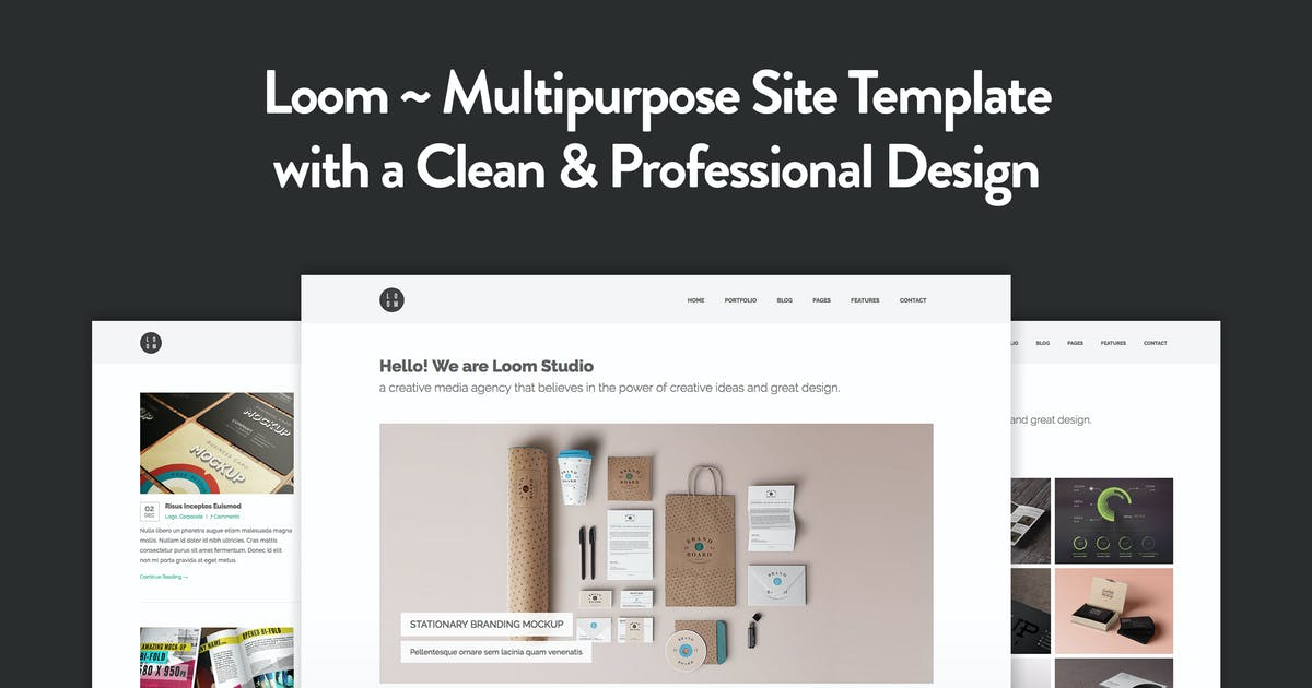 Download Loom - Multipurpose Responsive HTML5 Template by elemis