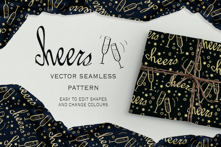 Thumbnail for Cheers seamless pattern