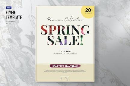 Elegant Spring Sale Flyer Template