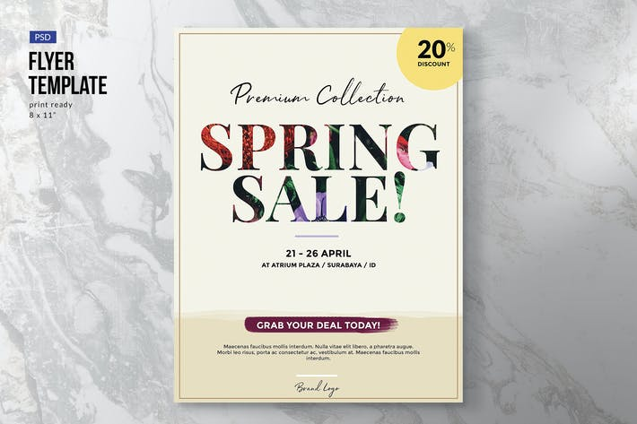 Thumbnail for Elegant Spring Sale Flyer Template
