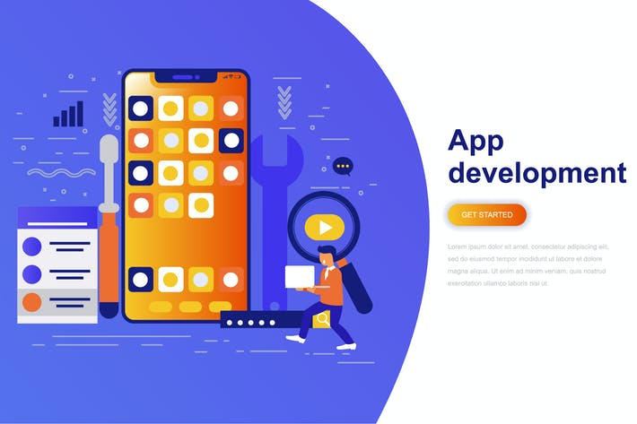 Thumbnail for App Development Modern Flat Concept