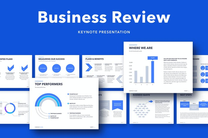 Thumbnail for Business Review Keynote Template