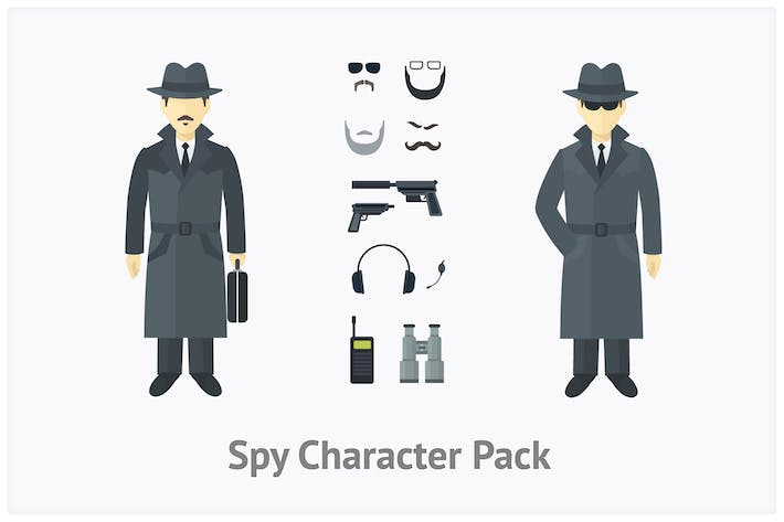 Thumbnail for Spy Character Set