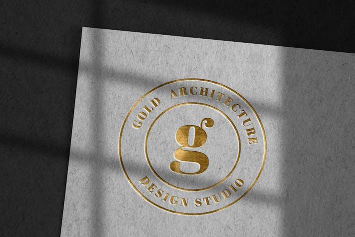 Luxury Debossed Logo Mockup on Kraft Paper
