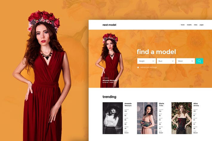 Thumbnail for Next Model - Stylish Directory Template for Model