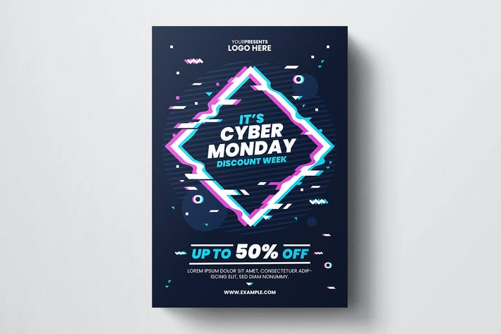 Thumbnail for Cyber Monday Flyer Template