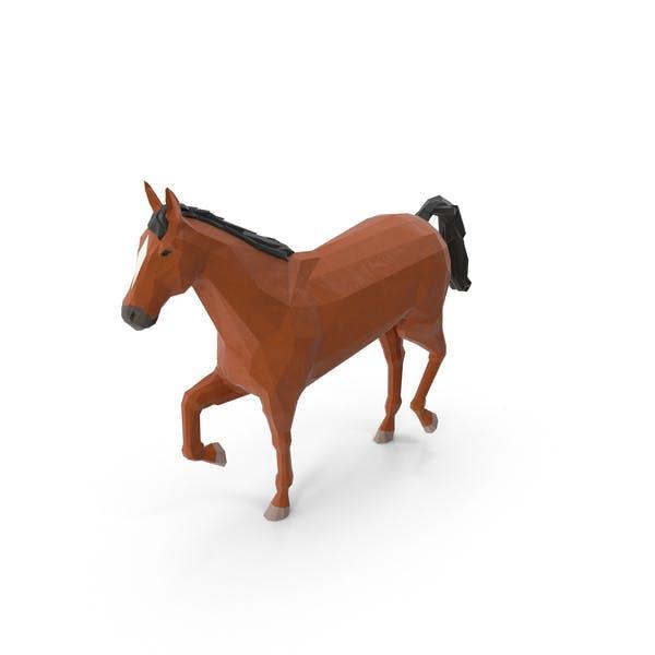 Low-Poly-Pferd