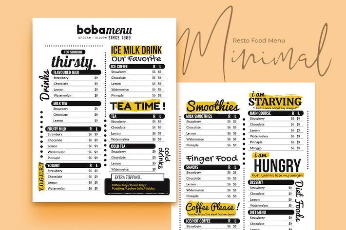 Thumbnail for Minimal Resto Food Menu Vol. 1
