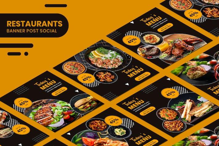 Thumbnail for Restaurants Food Banner Templates