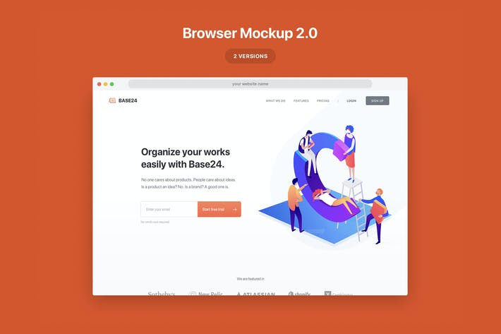 Thumbnail for Website Browser Mockup 2.0
