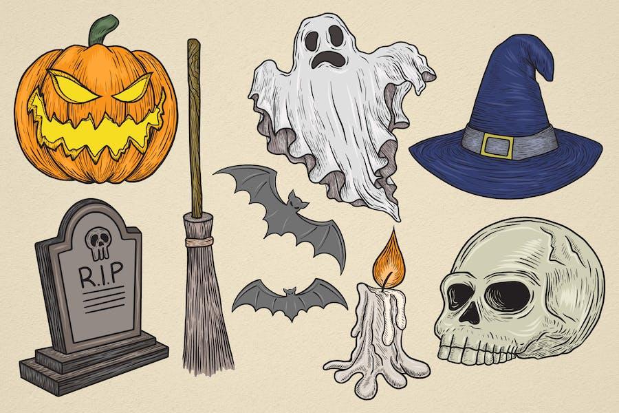 Hand drawn Halloween Elements #1