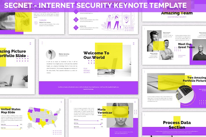 Thumbnail for Secnet - Internet Security Keynote Template