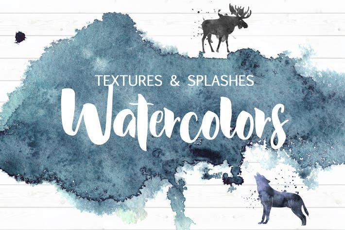 Cover Image For Watercolor textures&splashes