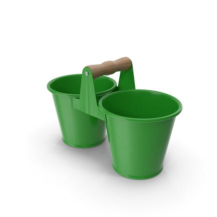 Twin Pot Green